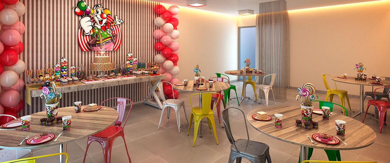 Salão de Festas Infantil.
