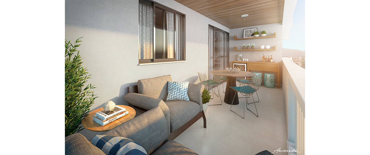Varanda - Apartamento Tipo - Coluna 02